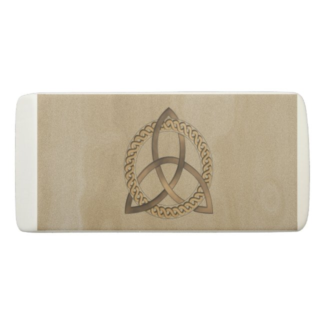 Celtic Triquetra Trinity Knot Wedge Eraser