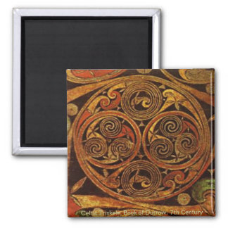 Celtic Triskele 2 Inch Square Magnet