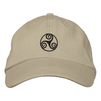 Celtic Triskele Embroidered Hat