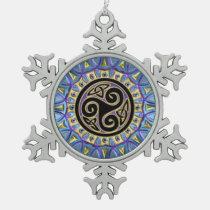 Celtic Triskele Mandala Christmas Ornament