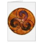 celtic triskele on gold