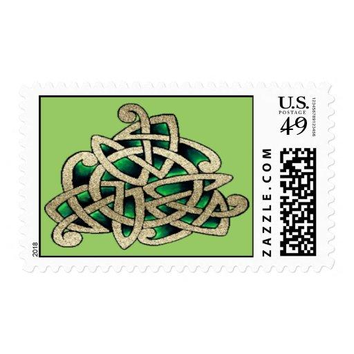 Celtic Triskele Postage Stamps