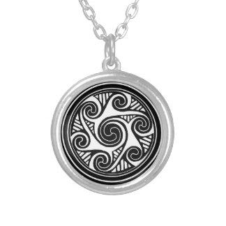 Celtic Triskele Silver Plated Necklace