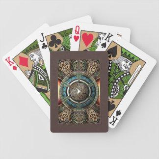 Celtic Triskelion Mandala Playing Cards