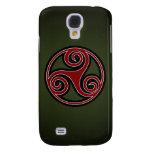 Celtic Triskelion o Triskele (rojo, negro, blanco)