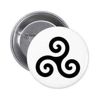 Celtic Triskelion Symbol Pinback Button