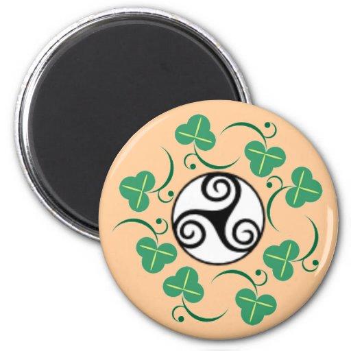 Celtic Triskell 2 Inch Round Magnet