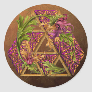 Celtic Triskels Ornamental Classic Round Sticker
