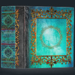 """Celtic Turquoise Fairytale Ancient Tome 3 Ring Binder<br><div class=""""desc"""">Step into the past with this whimsical ancient-tome-themed novelty binder,  rich with faux-weathered-leather detail,  bejeweled luster,  and old-world allure. Makes a fantastic one-of-a-kind gift. Shop the rest of our Ancient Tome themed binders and notebooks for a unique niche of products you don't want to miss!</div>"""