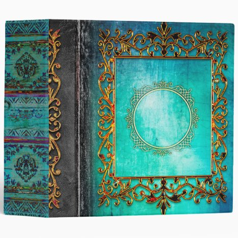 Celtic Turquoise Fairytale Ancient Tome 3 Ring Binder