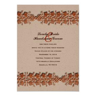 Celtic Twining Vines Fall Color Wedding Invitation