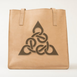Celtic Twisted 8th Knot Leather Bag