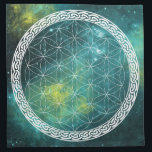 "Celtic Universe Flower of Life Crystal Grid Cloth<br><div class=""desc"">A Celtic Universe Flower of Life Crystal Grid Cloth!  Perfect for your crystals to hang out on while sending out happy luscious vibes to the universe!</div>"
