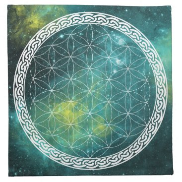 NicolaMc Celtic Universe Flower of Life Crystal Grid Cloth