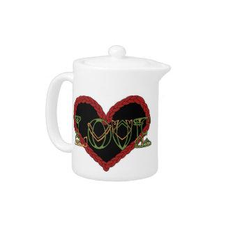 Celtic Valentine Teapot
