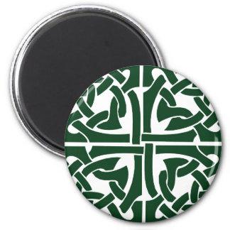Celtic verde Knotwork de la hiedra Imán Para Frigorífico