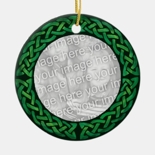 ¡Celtic verde Ornamenrt - personalizable! Ornamento De Navidad