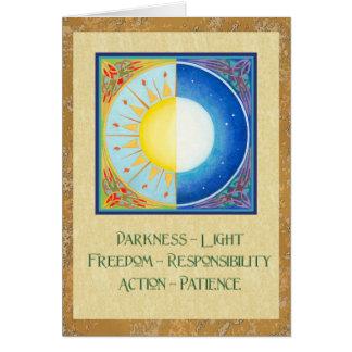 Celtic Vernal Equinox Sun and Moon Greeting Card