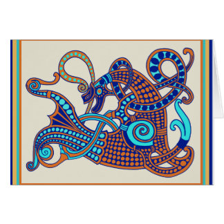 Celtic Viking Horse Greeting Card