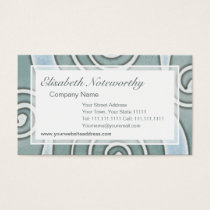 Celtic Vintage Aqua Grunge Effect Old Italian Wall Business Card