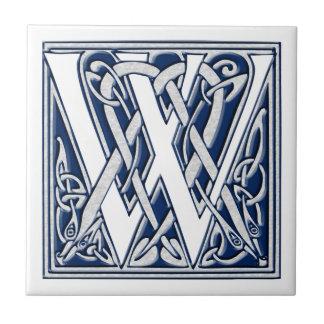 Celtic W Monogram Small Square Tile