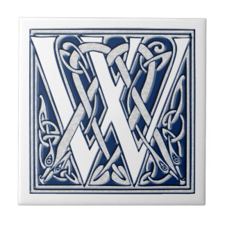Celtic W Monogram Tile