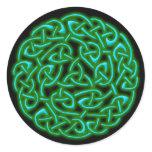 Celtic Warior Shield knot Classic Round Sticker