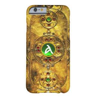 CELTIC WARRIOR SHIELD EMERALD RUBY GEM  MONOGRAM BARELY THERE iPhone 6 CASE