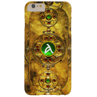 CELTIC WARRIOR SHIELD EMERALD RUBY GEM  MONOGRAM BARELY THERE iPhone 6 PLUS CASE