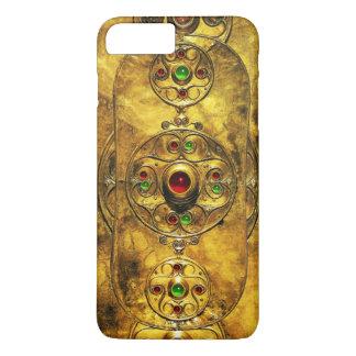 CELTIC WARRIOR SHIELD EMERALD RUBY GEM STONES iPhone 8 PLUS/7 PLUS CASE