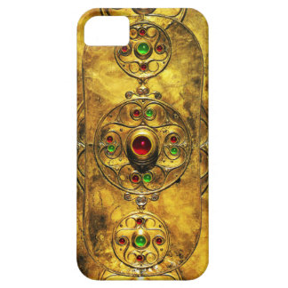 CELTIC WARRIOR SHIELD EMERALD RUBY GEM STONES iPhone SE/5/5s CASE