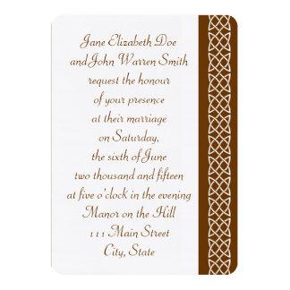 Celtic Weave Heart in Chocolate Wedding Invitation