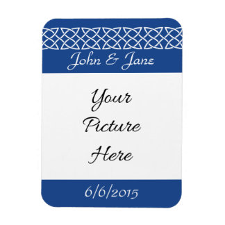 Celtic Weave Hearts in Blue Save-the-Date Magnet