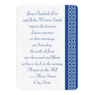 Celtic Weave Hearts in Blue Wedding Invitation