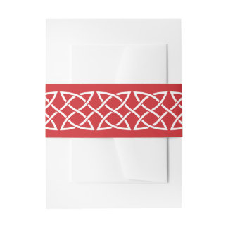 Celtic Weave Hearts in Cherry Invite Belly Band
