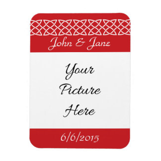 Celtic Weave Hearts in Cherry Save-the-Date Magnet