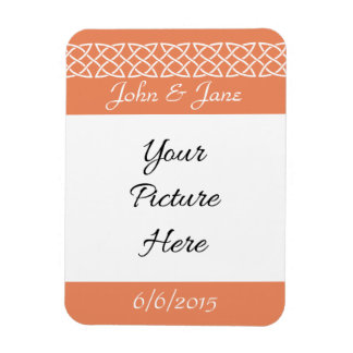 Celtic Weave Hearts in Coral Save-the-Date Magnet