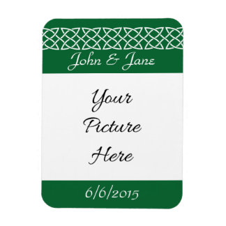 Celtic Weave Hearts in Green Save-the-Date Magnet