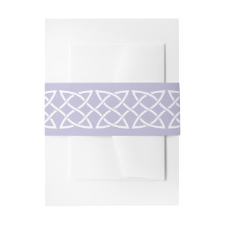Celtic Weave Hearts in Lavender Invite Belly Band