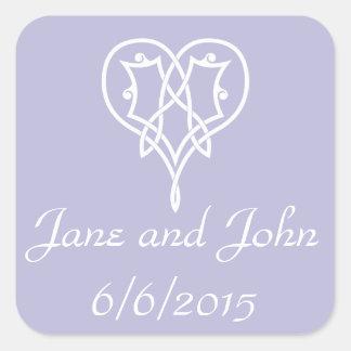 Celtic Weave Hearts in Lavender Sticker