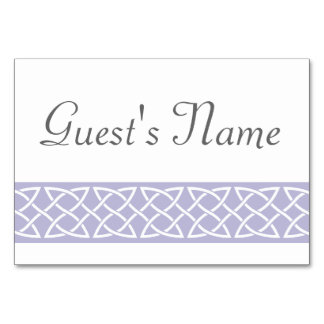 Celtic Weave Hearts in Lavender Table Card