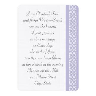 Celtic Weave Hearts in Lavender Wedding Invitation