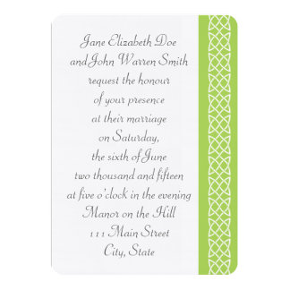 Celtic Weave Hearts in Peridot Wedding Invitation