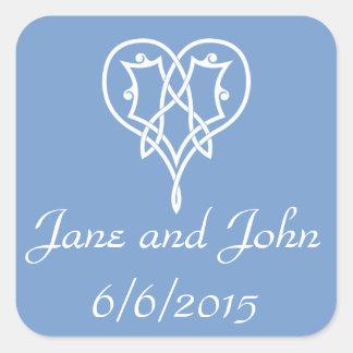 Celtic Weave Hearts in Periwinkle Sticker