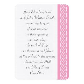 Celtic Weave Hearts in Petal Pink Invitation