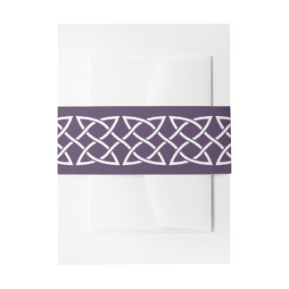 Celtic Weave Hearts in Purple Invite  Belly Band