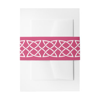 Celtic Weave Hearts in Raspberry Invite Belly Band