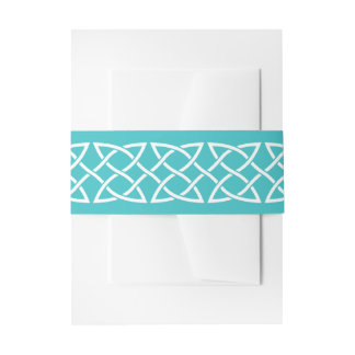 Celtic Weave Hearts in Turquoise Invite Belly Band
