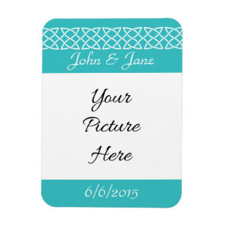 Celtic Weave Hearts in Turquoise Reminder  Magnet