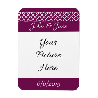 Celtic Weave Hearts in Wine Save-the-Date Magnet